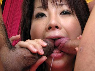 Hina Kawamura gets toys, prick and spunk in slit